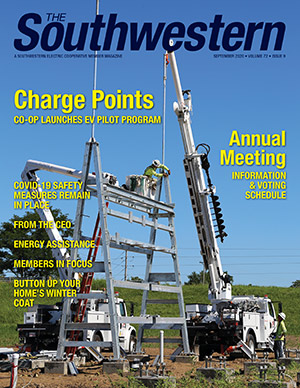 September 2020 issue cover image: Maple Grove Substation Construction